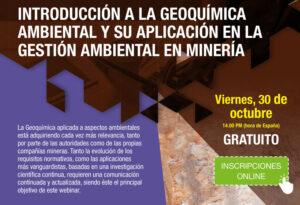 """Read more about the article Webinar """"Introducción a la geoquímica ambiental"""""""